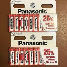 20 x AA Genuine PANASONIC Zinc Carbon Batteries - New R6 1.5V Expiry 2021