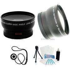 40.5mm 3 Lens Set Telephoto+Wide Angle+Macro+BONUS Olympus PEN E-PL5 E-PL3 E-P3