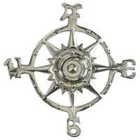 Shalimar Showrooms AL 51120-VC Aluminum Chrome Compass Rose Vintage Finish Nautical Beach House Wall Art Plaque 11