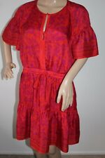 WHISTLES STUNNING FLATTERING SHIFT DRESS IN RED / PURPLE FLORAL PRINT SIZE UK 14
