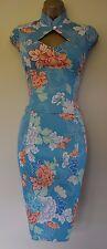 Nouveau Karen Millen 8 sexy vintage rare floral oriental corset mariage courses robe