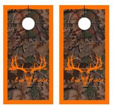 Realtree Camo - Bow Hunters - Crosshair - Boarder Cornhole Board Wraps #2616
