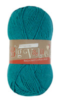 Big Value recycled cotton aran yarn by king Cole 100g  ball