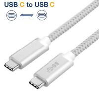 NEW USB C 3.1 Type C to USB C 3.1 Type C Cable (10Gbps) Fast Charging Sync Cord