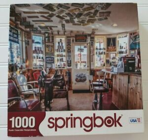 Springbok Retro Rewind 1000 Pc Jigsaw Puzzle License Plates Motor Oil Complete