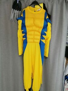 """#8 ex hire Adults marvels wolverine costume fancy dress cosplay XL 50-52"""" chest"""