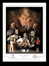 GLEN CAMPBELL 1936 - 2017  MONTAGE PRINT