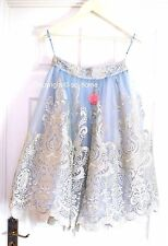 Brand New Chi Chi London Midi Tulle Full Prom Skirt Blue Silver Size 10 Wedding