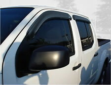 Auto Vent Shade 94407 4 pc Smoke Deflector Ventvisor for Nissan Frontier