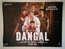 DANGAL Aamir Khan 2016 authentic Bollywood action UK cinema quad movie poster