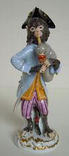 Meissen Porcellana-personaggio scimmie cappella cornamusa Pfeifer Piper Monkey volume #60008