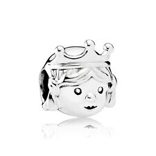 1P Silver Cute Crown princess Charm Beads fit European Silver Bracelet tr45
