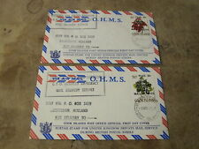 x2 1971 FDC / Covers - Cook Islands - Emergency Mail strike over print