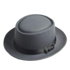 Men Women Hard Felt Pork Pie Cap Fedora Bowler Hat Derby Homburg Hats Band