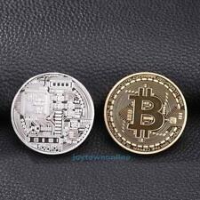Φ 40mm Bitcoin Coin Münze Mining Miner Medaille Sammelmünz mit Etui Geschenk