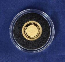 """Mongolia 2007 1/25oz Moneda de Oro """"The Pig"""" en Year of cápsula (E5/3)"""