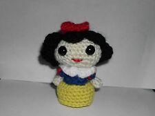 "Handmade Crocheted Amigurumi Disney princess Snow White 3 1/2"" Tall"