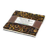Kaufman Batik Fabric Charm Squares, RINGS & DOTS, CHS-841-42