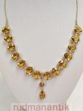 COLLIER GOLD 585 mit 16 grossen geschliffenen CITRINEN im BRILLANTSCHLIFF