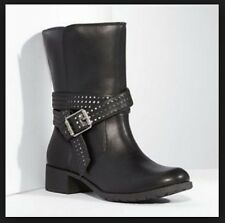 Simply Vera Wang 5M Black Vix Moto Women Motor Cycle Short Biker Boots New $100