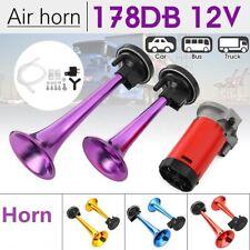 178dB 12V Super Loud Dual Air Horn Trumpet Compressor Kits Car Truck Boat Train