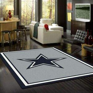 Dallas Cowboys Rug Football Area Rug Living Room Bedroom Floor Mat Carpet 8 Size