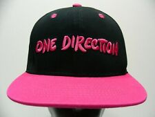 ONE DIRECTION - BLACK & PINK - ONE SIZE ADJUSTABLE SNAPBACK BALL CAP HAT!