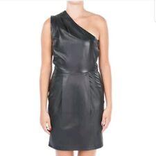 Jimmy Choo xH&M One-Shoulder-Dress Size 38 Black leather Ladies' Dress