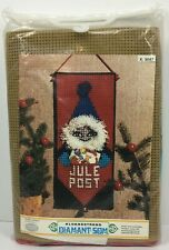 Vintage Crewel Embroidery Kit Julepost Norway Klokkestreng Diamant-Som Bell Pull