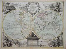 WORLD - MAPPE MONDE BY CREPY, PUBLISHED PARIS 1767