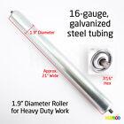 Uline Replacement Gravity Roller Conveyors 21' Wide 1.9' Diameter 7/16' Hex