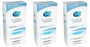 3 PACK Secret CLINICAL STRENGH 2.6 oz Invisible Solid Antiperspirant Deodorant