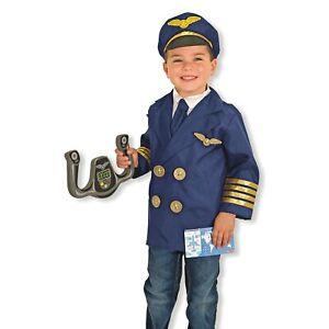 Melissa & Doug Airline Pilot Fancy Dress Costume Age 3 4 5 6 Child Kid Role Play