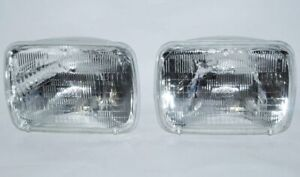 7X6 Halogen Sealed Beam Hi / Low Beam Glass Headlights Headlamp Light Bulbs Pair
