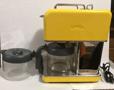DeLonghi kMix Drip Coffee Maker 10 Cups - Yellow W/ Extra Coffee Pot TESTED!!