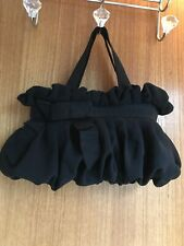 Coast Black Frilled Evening Bag