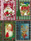 Handmade half VINTAGE CHRISTMAS CARDS #CV6-Lot of 4