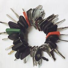 38pc Heavy Equipment Key Set Construction Ignition Keys Cat Case Komatsu Volvo