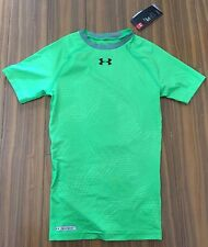 New Under Armour Mens Compression Small Green Neon T Shirts Top $33