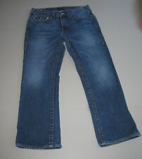 True Religion Men's Jeans Billy Size 33 - 28 Boot Cut Medium Wash Authentic USA