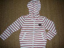 Gilet Sweat veste capuche rayé blanc rouge Marinière fille 6 ans Z Lisa rose