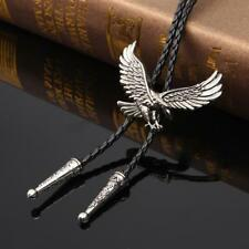 Vintage Western Cowboy Men Eagle Bolo Tie Necktie Pendant Necklace Jewelry Gifts