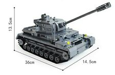 WW2 German Panzer IV F2 Tank - 1193 Piece Model