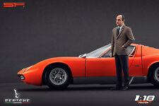 1/18 Nuccio Bertone figure VERY RARE !!! for 1:18 Autoart Exoto CMC Lamborghini