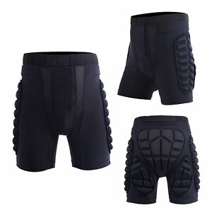 Unisex Motorcycle Snowboard Ski Protective Hip Butt Padded Shorts Comfortable