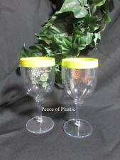 Tupperware New Set 2 Wine Goblets Tumblers Acrylic Friendship Award Consultant
