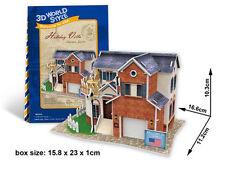 American Villa 3D Puzzles Children Boy Girl Model Paper DIY Educational Toy