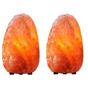 2pk Himalayan Glow Natural Salt Lamp | Orange | NWT