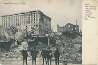 SAN FRANCISCO CA - New Fairmount Hotel and Vicinity Earthquake Ruins - udb