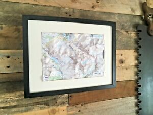 FRAMED DORRIGO 3D OS RELIEF WALL MAP OF SNOWDONIA SNOWDON WYDDFA NORTH WALES